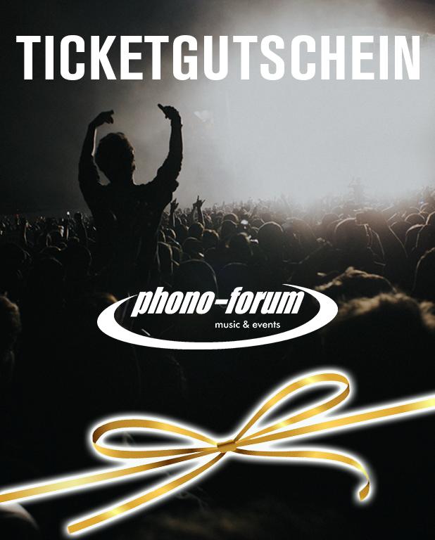 Ticketgutschein mit goldener Schleife